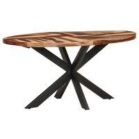 vidaXL Mesa de comedor madera acacia con acabado sheesham 160x90x75 cm