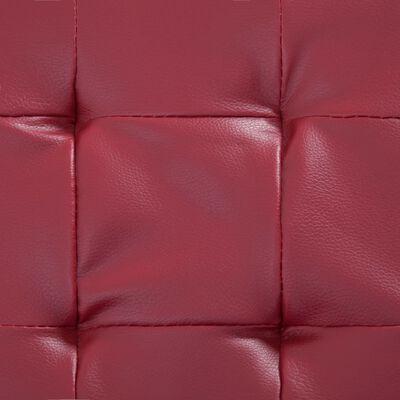 vidaXL Otomana de almacenaje cuero sintético color vino tinto 87,5 cm