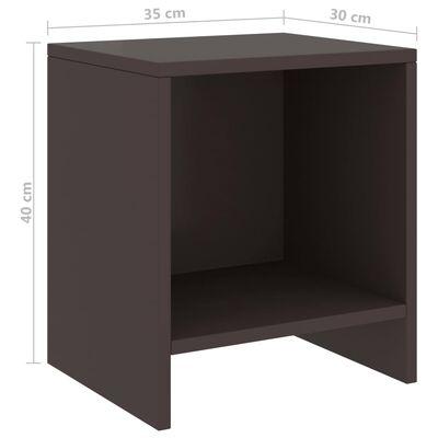 vidaXL Mesitas de noche 2 uds madera de pino marrón oscuro 35x30x40 cm
