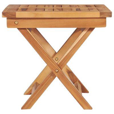vidaXL Tumbonas 2 unidades madera maciza de teca con mesita y cojín