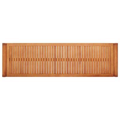 vidaXL Banco de jardín 3 plazas madera maciza de eucalipto 150 cm