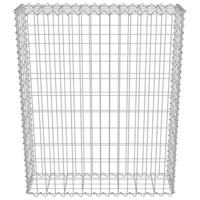 vidaXL Muro de gaviones con cubiertas acero galvanizado 80x20x100 cm