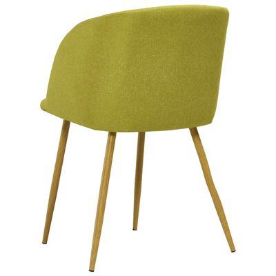 vidaXL Juego de comedor 3 piezas tela verde