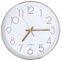 vidaXL Reloj de pared 30 cm rosa dorado