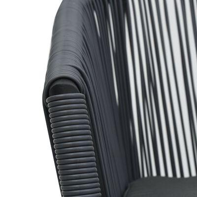 vidaXL Sillas de jardín 2 unidades ratán de PVC gris antracita