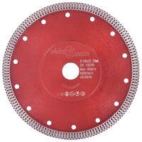 vidaXL Disco de corte de diamante con agujeros acero 180 mm