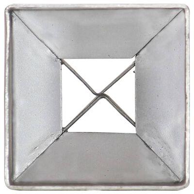 vidaXL Picas de tierra 6 uds acero galvanizado plateado 7x7x75 cm