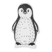 Cojín decorativo pingüino blanco/negro 32x48 cm HAJDARABAD
