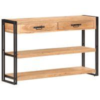 vidaXL Aparador de madera maciza de acacia 120x30x75 cm