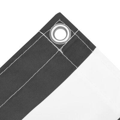 vidaXL Toldo para balcón tela oxford gris antracita y blanco 90x300 cm