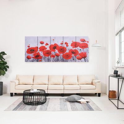 vidaXL Set de lona para pared flores multicolor 200x80 cm