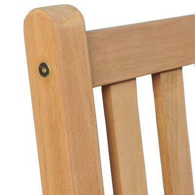 vidaXL Sillas de jardín 2 uds madera de teca con cojines azul royal