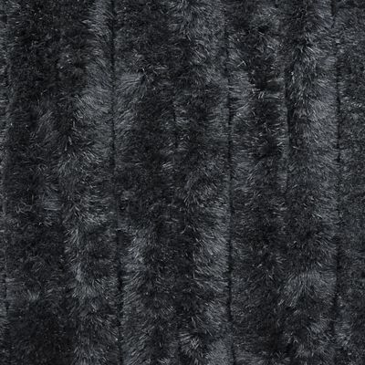 vidaXL Cortina mosquitera de chenilla gris antracita 56x185 cm