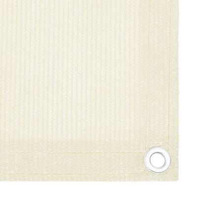 vidaXL Toldo para balcón HDPE crema 120x600 cm