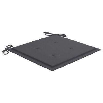 vidaXL Cojines de silla de jardín 2 uds tela gris antracita 40x40x4 cm
