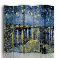 Biombo Noche Estrellada Sobre El Ródano - Vincent Van Gogh