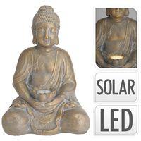 ProGarden Figura de Buda con lámpara solar MGO dorado
