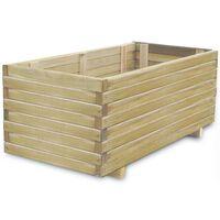 vidaXL Arriate rectangular de madera 100x50x40 cm