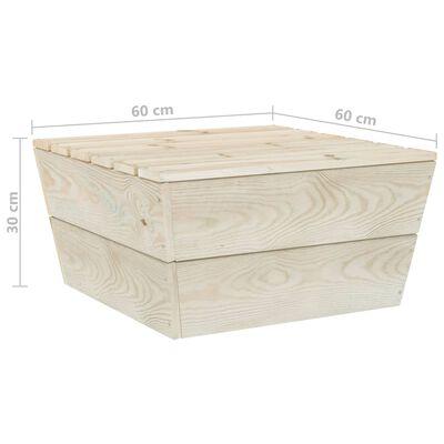 vidaXL Muebles de jardín de palets 6 piezas y cojines madera de abeto