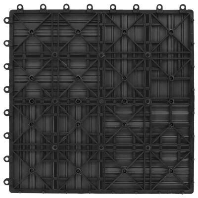 vidaXL Baldosas de porche de WPC 30x30 cm 2 m² gris 22 unidades