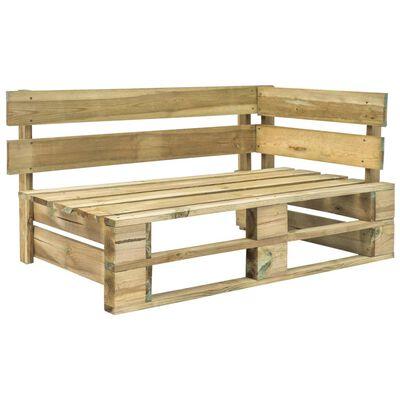 vidaXL Sofá de palets 2 plazas cojines verde madera de pino impregnada