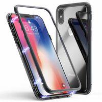Funda magnética para iPhone X / iPhone XS con cristal templado y marco