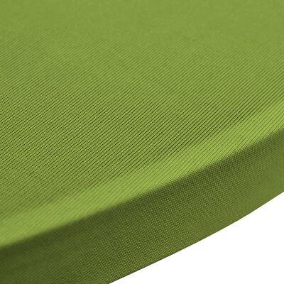 vidaXL Funda elástica para mesa 2 unidades 70 cm verde