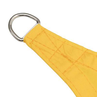 vidaXL Toldo de vela cuadrado de tela oxford amarillo 4,5x4,5 m