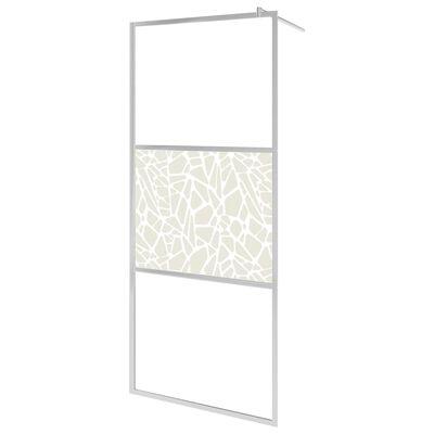 vidaXL Mampara de ducha accesible vidrio ESG diseño piedras 100x195 cm
