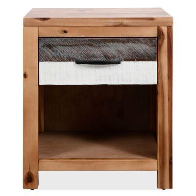 vidaXL Mesita de noche de madera maciza de acacia 40x30x48 cm
