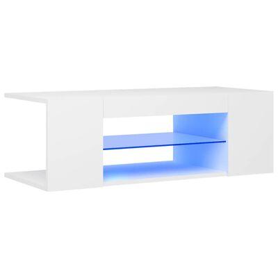 vidaXL Mueble para TV con luces LED blanco 90x39x30 cm