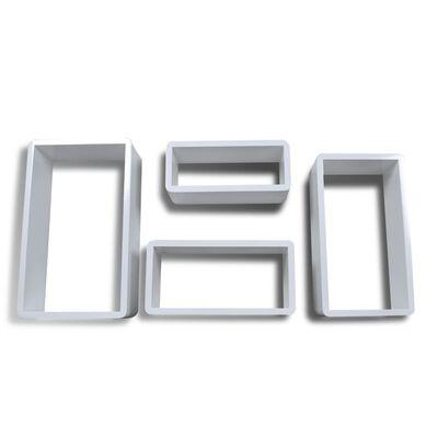 Set de estante de 4 en forma de cubo blanco
