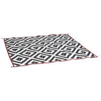 Bo-Camp Alfombra de exterior Chill mat Picnic negro y blanco 2x1,8 cm