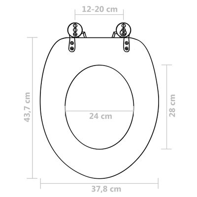 vidaXL Asiento de inodoro tapa cierre suave 2 uds MDF diseño pingüinos