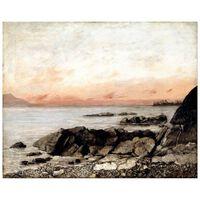 Impresión sobre lienzo - La Puesta del Sol. Vevey, Suiza -e Courbet.