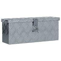 vidaXL Caja de aluminio 48,5x14x20 cm plateada