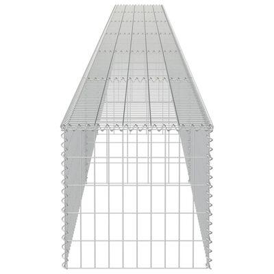 vidaXL Muro de gaviones con cubiertas acero galvanizado 900x50x50 cm