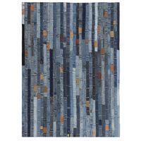 vidaXL Alfombra patchwork cinturilla de vaqueros azul 80x150 cm