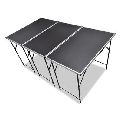 vidaXL Mesas de empapelar plegables 3 unidades