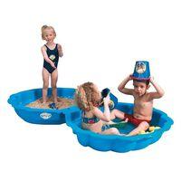 Paradiso Toys caja de arena conchas 102 x 88 cm azul 2 piezas