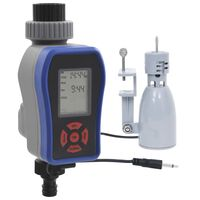 vidaXL Temporizador de agua digital salida única y sensor de humedad