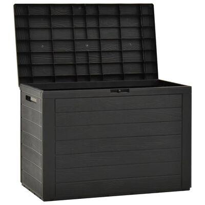 vidaXL Caja de almacenamiento de jardín gris antracita 78x44x55 cm