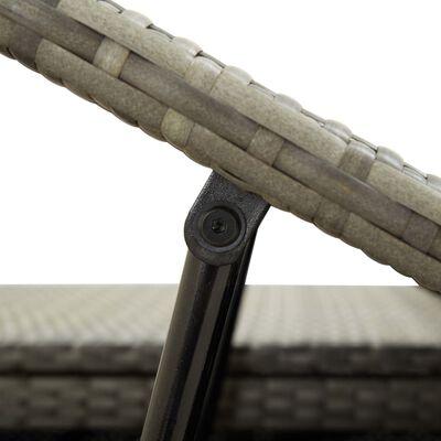 vidaXL Tumbona para 2 personas con cojín ratán sintético gris