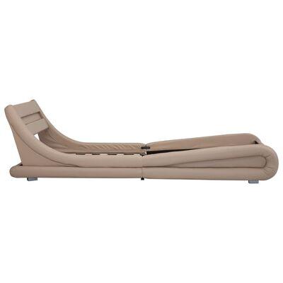 vidaXL Estructura de cama con LED cuero sintético capuchino 90x200 cm