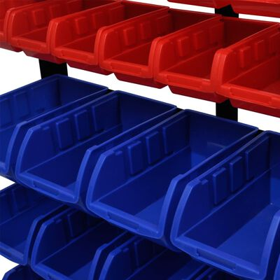 Organizador de herramientas para taller, Azul/ Rojo
