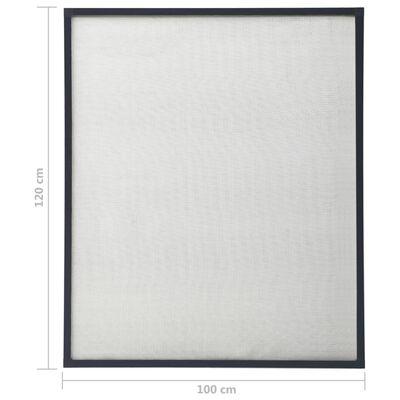 vidaXL Mosquitera para ventanas gris antracita 100x120 cm