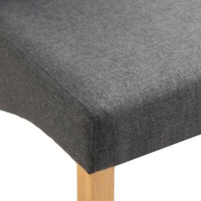 vidaXL Sillas de comedor de tela gris 6 unidades