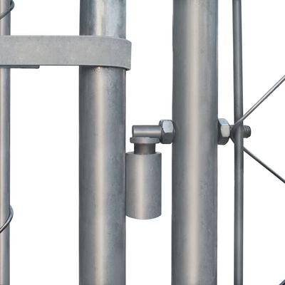vidaXL Perrera de exterior de acero galvanizado 4x4x1 m