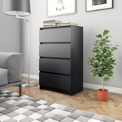vidaXL Aparador de aglomerado negro 60x35x98,5 cm