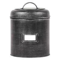 LABEL51 Bote de almacenaje negro envejecido XXL 21x21x29 cm